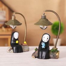 Miyazaki Hayao Art Spirited Away Mysterious No Face man Ornaments Night Light Japanese Style Resin Home Furnishings No Face Male