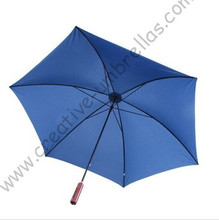 Crutch umbrella+alloy case,6k ribs,pongee fabric,10mm metal shaft and fluted metal ribs+regular packing(China)