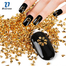 Metal Water Droplets Design Charms 3D Copper Nail Art Decorations Gold Silver 2 Colors Glitter Drop Studs For Nails PJ583 PJ584