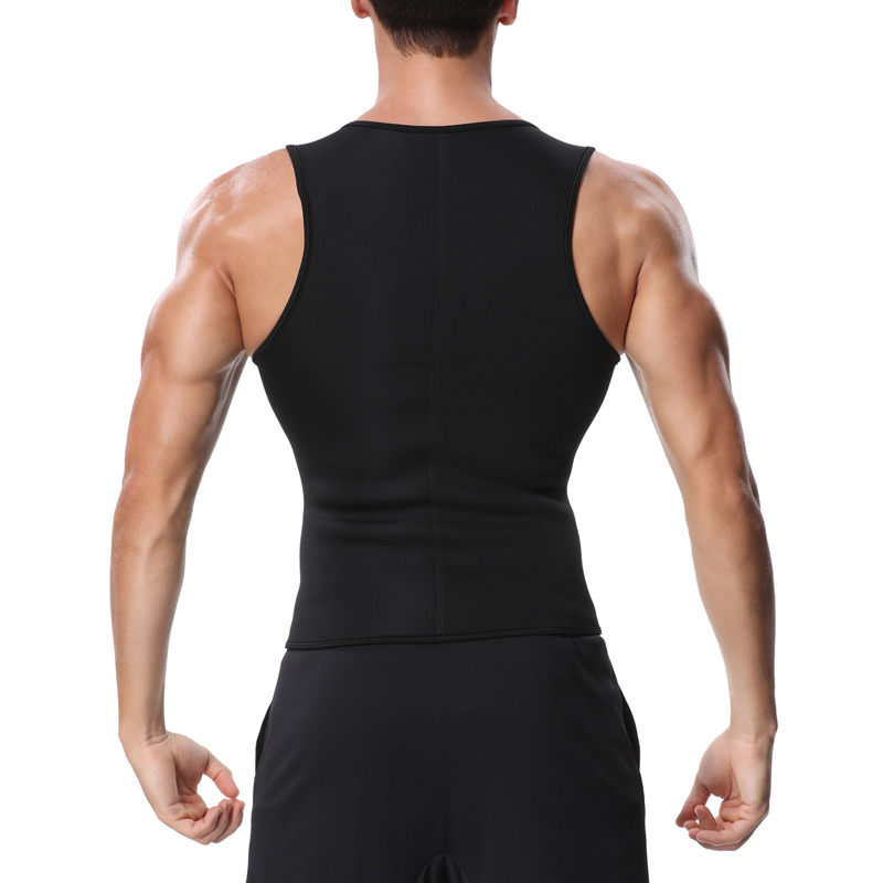 Miss Moly Mens Neoprene Corset Sauna Vest Zipper Sweat Waist Trainer Slimming Thermo Shapewear Body Shaper fajas modeladoras Top 7