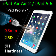 "Tempered Glass Screen Protector For iPad Air 1 Air 2 For iPad Pro 9.7"" Explosion Proof Clear Toughened Protective Film SZEGYCHX"