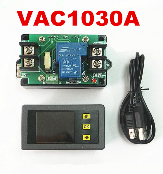 Digital LED Color 0.01-120V 0.01-30A Bi-directional Multifunction power meter VAC1030A monitor Voltage KWh Ammeter voltmeter<br><br>Aliexpress