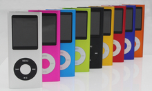 200pcs/lot slim 4th gen mp4 player 32GB 9 Colors for choose Music playing time 30Hours fm radio video player