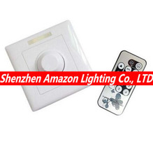 Free shipping, 110V 120V 220V 240V 300W 8A IR Knob PWM Triac LED Dimmer Switch For E14 E27 GU10 Dimmable Spot Lights