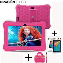 DragonTouch Y88X Plus 7 inch Pink Kids Tablets for Children Quad Core Android 5.1 + Tablet bag+ Screen Protector gifts for Child(China)