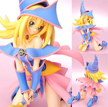 Manufacturer 18pcs Game anime Dark Magician Girl Mana action pvc figure toys tall 18cm in box via EMS.