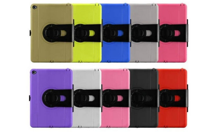 2015 For iPad6 tough hard case Armor heavy Duty Military silicone Case Shock Proof Case Cover for iPad Air 2 Air2 Free Shipping<br><br>Aliexpress