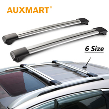 Auxmart Universal Car Roof Rack Cross Bars 93~111cm Auto Offroad with Anti-theft Lock Load 150LBS 70kg Cargo Luggage Carrier