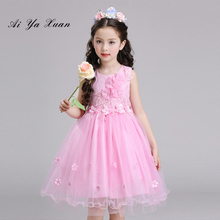 AiYaxuan Children Kids Prom Gown Designs Little Baby Kids Party Frocks Flower Girl Sequin Tulle Wedding Dress Girl Clothes(China)