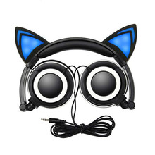 Cat Ear LED Gaming Headset Headphone For Computer Luminous Earphone For PC Gamer For Laptop Computer Mobile Phone