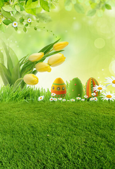 Spring Easter Grassland backdrop High-grade Vinyl cloth Computer printed children Photography Backgrounds<br><br>Aliexpress