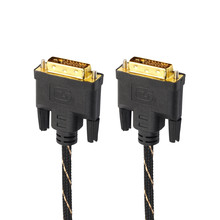 LCD Digital Monitor DVI D To DVI-D Gold Male 24+1 Pin Dual Link TV Cable For TFT Convenience 17Sept4