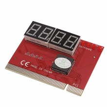 Computer PC 4 Digit Diagnostic Analyzer Card Motherboard Tester High Quality D14(China)