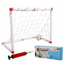 Sports Soccer Goals with Soccer Ball and Pump Practice Scrimmage Game Football Gate Train Garden Game Football Door Sets(China)