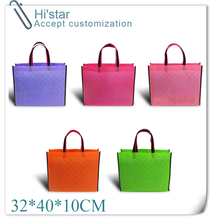 32*40*10CM 20pcs  promotion new arrival eco  non-woven fabric shopping bag accept custom logo print