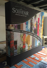 2 units Freeshipping!8ft Pop Up Displays W/Velcro System 340g High Tension Fabric Dye Sublimations Printing