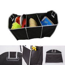 Black Car Trunk Storage Bag Multifunction Rack Folding Nets Car Trunk Bag Organizer Bag Toolbox Storage Box Motorcycle Accessory(China)