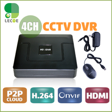 4 Channel CCTV Digital Video Recorder  H.264 CCTV DVR Recorder P2P Cloud 4ch Full D1 Up to HD 1920*1080 CCTV DVR Recorder