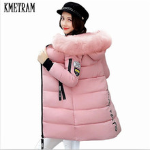 Winter Jacket Women 2017 Fashion Fur Hooded Quilted winter coat women Warm Down Cotton Parka female jackets Plus Size YG228(China)