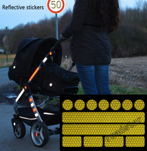 Hot sell reflective sticker 13 stickers for pushchairs, bicycle helmets and more(China)