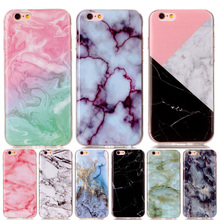 Fashion Marble Soft TPU IMD Silicone Back Cover Case For iPhone 4 4S 5 5C 5S SE 6 6S 7 Plus iPod touch 5 6 Fundas Coque YH
