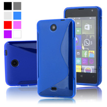 For Lumia 430 S Line TPU Silicone Rubber Soft Case For Microsoft Nokia Lumia 430 Back Skin Cover Cell Phone Protective Cases
