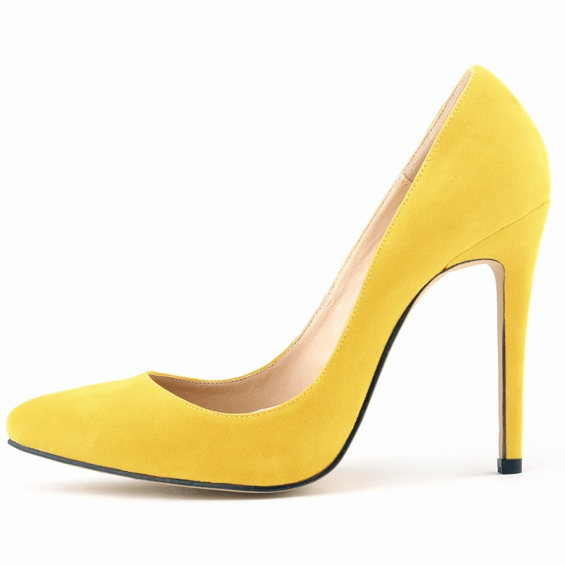 Spring And New Office Elegant Career Sexy Black High Heels Suede Pointed Shoes Women Pumps Grey Black Hot Sale SMYNLK-0017I<br><br>Aliexpress