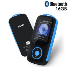 Latest Version RUIZU X06 Bluetooth MP3 Music Player 16GB with 1.8 Inch Screen Supports FM Radio Voice Recording Extend TF Card(China)