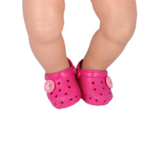 ZXZ Red Shoes Dolls Suitable fits 43 Cm Dolls Baby Born Zapf Doll Accessories Doll Shoes for Girls Gifts..x6