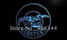 LM125- Lobsters Seafood Restaurant Bar LED Neon Light Sign hang sign home decor shop crafts(China)