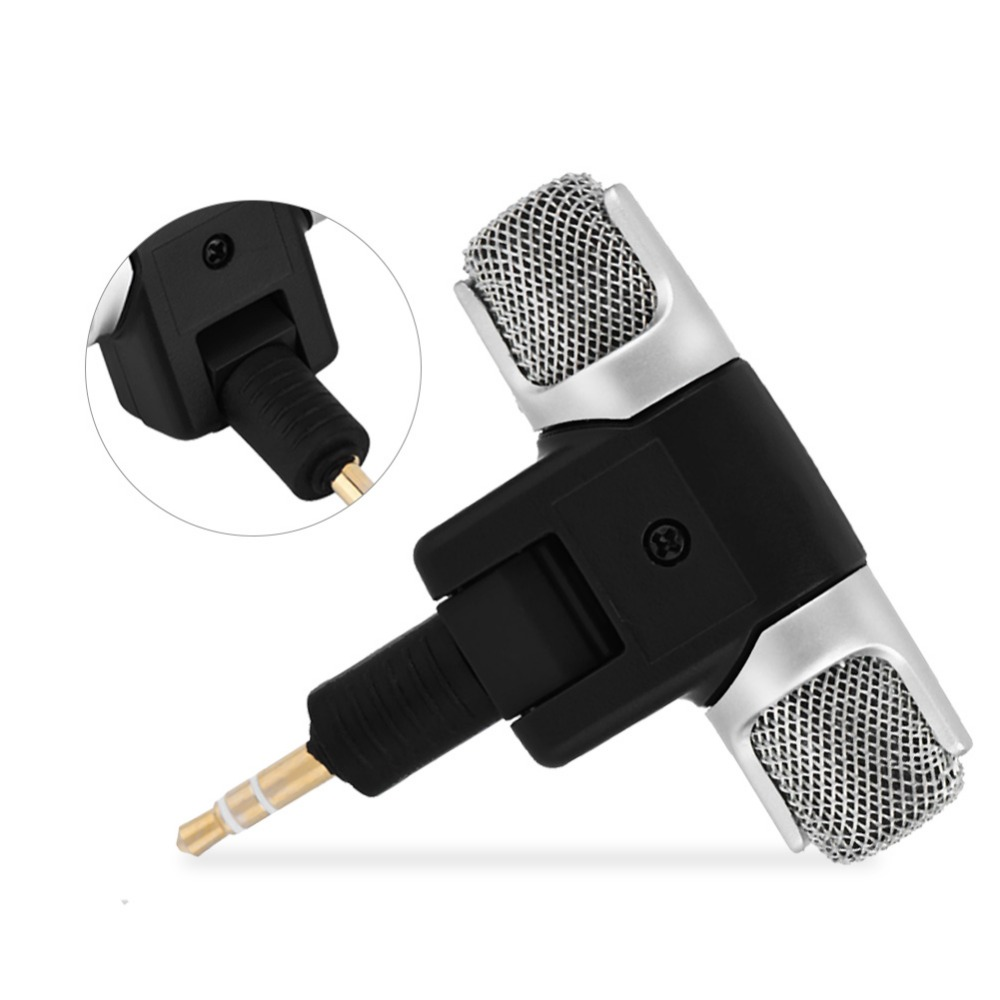 Mini Stereo Microphone Mic 3.5mm Gold-plating Plug Jack for PC Laptop MD Camera (8)