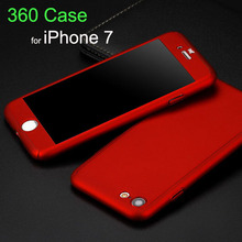 Buy New Arrival 360 Degree Front Back Full Body Protective Skin Case Cover fundas iPhone 7 7plus Covers Tempered Glass Film for $1.82 in AliExpress store