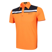 Teetimes New Polyster Men Brand Polo Shirts 3D Shirt Mens Golf Polo Golf T- shirts in 4 colors Short Sleeves Casual Clothing