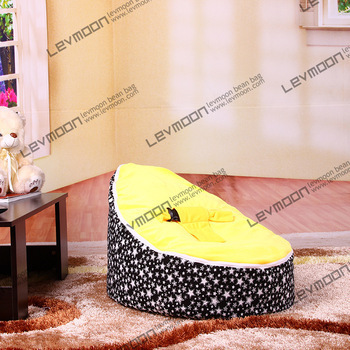 FREE SHIPPING baby bean bag cover with 2pcs golden up cover baby bean bag seat cover baby bean bag chair kids sofa lazy chair<br>