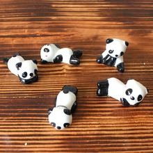 Cute Lovely Ceramic Panda Chopsticks Stand Rest Rack Porcelain Spoon Fork Knife Holder Decoration Accessories(China)