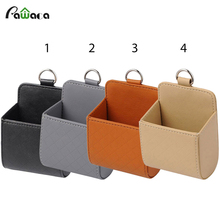 Pawaca New Arrived Portable Car Storage Bag For Mobile Phone Car Pouch Auto Outlet Air Vent Trash Case Sundries Storage Bucket