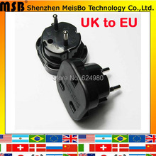 Universal Black copper abs Electrical 240V 10A 16A AC power 2 pins multifunction UK  to EU adapter plug