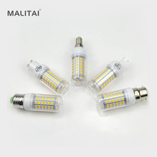 1Pcs 69LEDs E27 E14 G9 GU10 B22 AC 220V LED Corn lamp Spotlight Bulb 5730 SMD Chandelier Replace 25W Compact Fluorescent Light(China)