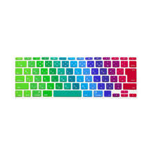 "10 X  Japanese Colorful Rainow Japan JP Silicone Keyboard Cover Skin Protector film membrane for Apple MacBook Air 11"" 11.6 Inch"
