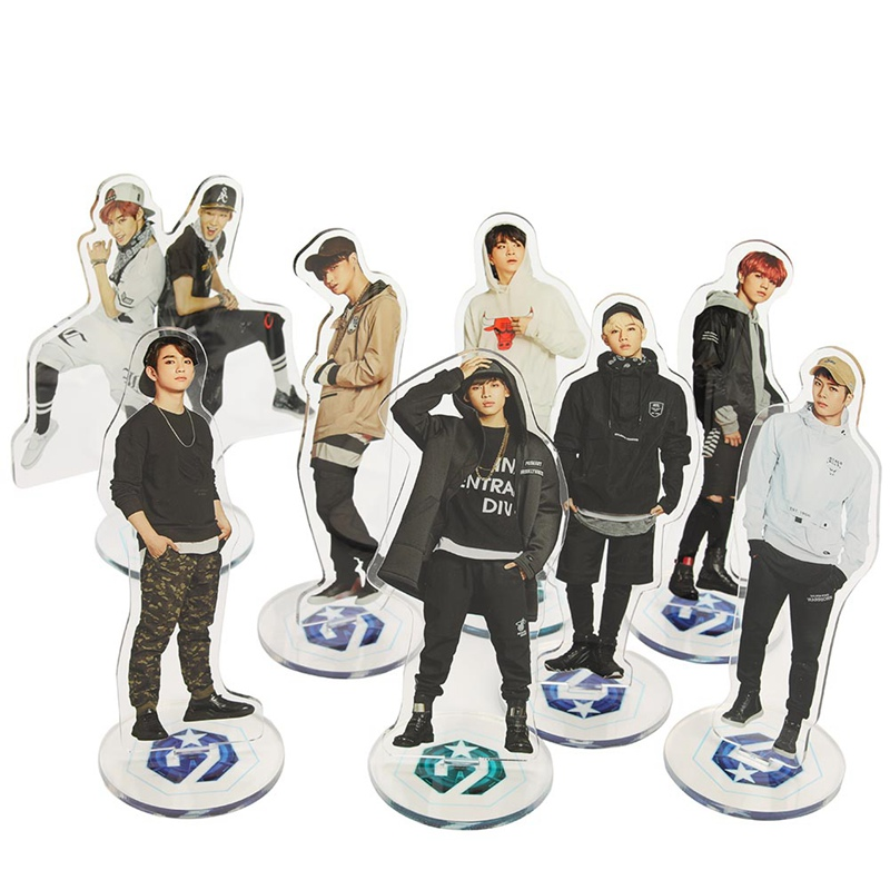 Confident Kpop Got7 Acrylic Standee Figure Doll Jackson Mark Youngjae New Fashion Standing Action Table Desktop Decor Beads & Jewelry Making
