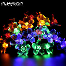 HUANJUNSHI 2.2M/20 LED Peach Blossom Battery Box Drive LED String Lights Fairy Light For Wedding Christmas Garden Decoration(China)