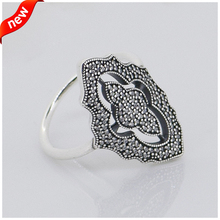 Compatible with European Jewelry Sparkling lace Silver Ring 2014 New Original Authentic 925 Sterling Silver Ring DIY Making
