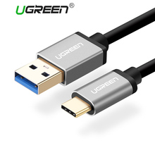 Ugreen USB 3.0 Type C Cable for Xiaomi 4C 2.4A USB Type-C Fast Charger Mobile Phone Cables for LG Nexus 5x Huawei Oneplus USB C(China)
