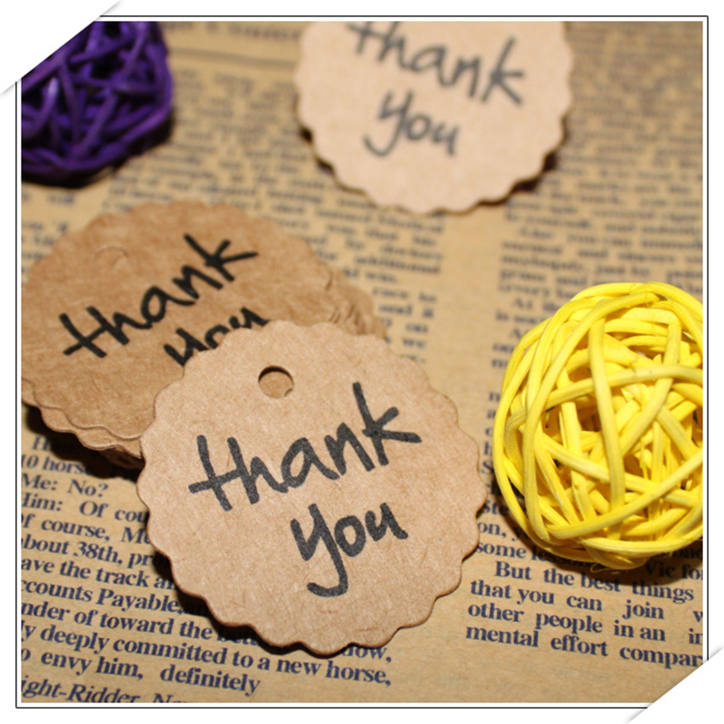 Paper Thank You Tag 4cm [ 100 Piece Lot ] 3