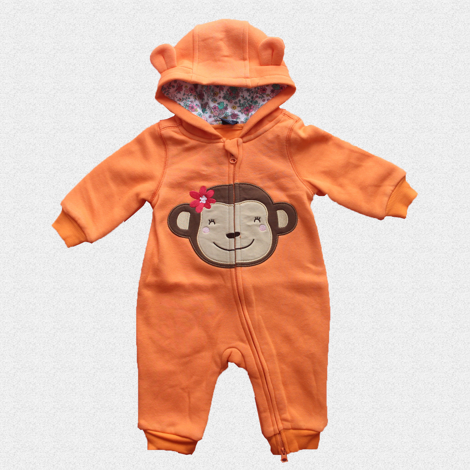 Autumn Baby Boy Clothes Newborn Rompers Children Thick Winter Clothing One Piece Jumpsuit Baby Girl Clothing Hooded Sleepwear<br><br>Aliexpress