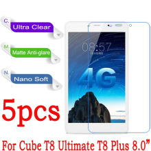 "8.0""For Cube T8 Ultimate / T8 Plus Tablet PC Screen Protector Clear Soft Nano Anti-Explosion Protective Film (Not Glass)(China)"