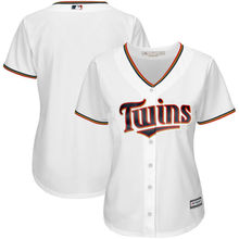 MLB Women's Minnesota Twins White Home Cool Base Jersey(China)