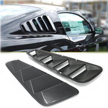 Mayitr 2pcs Car Styling Carbon Fiber Side Window Louver Scoop Cover Vent For 05-14 Ford Mustang 2005 - 2014(China)