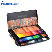 Marco Renoir 24/36/48/100 Color oily Professional Art Colour Pencils in the box 3100 lapices de colores 72 School Art Supplies(China)