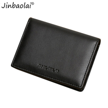 JINBAOLAI  Soft Durable PU Leather Men Super Thin Wallet Bag Money Coin Credit Card Holder Card Purse Wallet For Men carteira